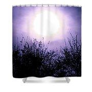 Purple Eclipse Shower Curtain