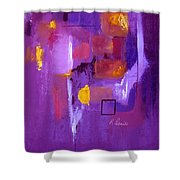 Purple Enclosure Shower Curtain