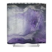 Purple Explosion By Madart Shower Curtain