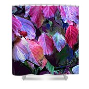 Purple Fall Leaves Shower Curtain