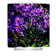Purple Flower Still Life Shower Curtain