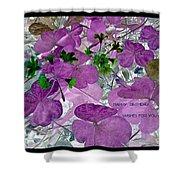 Purple Flower Wishes Shower Curtain