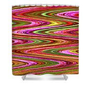 Purple Flowers Abstract Shower Curtain