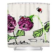 Purple  Flowers Grow Shower Curtain