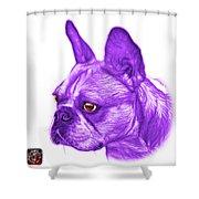 Purple French Bulldog Pop Art - 0755 Wb Shower Curtain