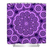 Purple Geek Kaleidoscope Five Shower Curtain