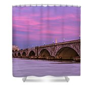 Purple Glow Shower Curtain