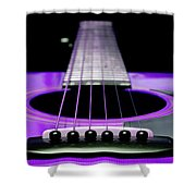 Purple Guitar 15 Shower Curtain by Andee Design