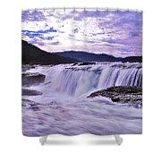 Purple Haze Waterfall Shower Curtain