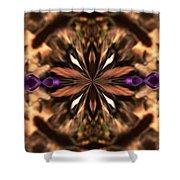 Purple Heart Design Shower Curtain