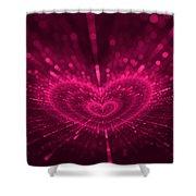 Purple Heart Valentine's Day Shower Curtain