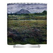Purple Heather And Mount Errigal From Dore Co. Donegal Ireland   Shower Curtain
