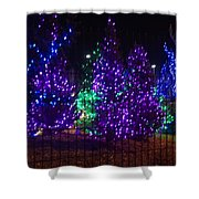 Purple Holiday Lights Shower Curtain