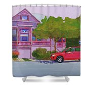Purple House, Alameda Shower Curtain