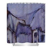 Purple Hut Shower Curtain