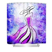 Purple Lady Charm Shower Curtain