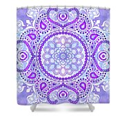 Purple Lotus Mandala Shower Curtain