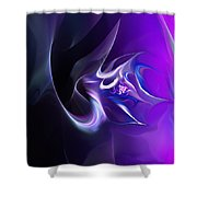 Purple Love Shower Curtain