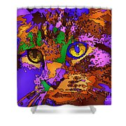 Purple Love. Pet Series Shower Curtain