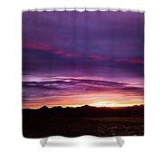 Purple Majesty Sunset Shower Curtain