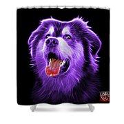 Purple Malamute Dog Art - 6536 - Bb Shower Curtain