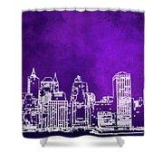 Purple Manhattan Shower Curtain