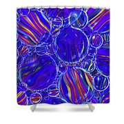 Purple Marbles Shower Curtain Shower Curtain
