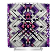 Purple Maze Shower Curtain