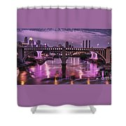 Purple Minneapolis For Prince Shower Curtain