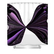 Purple Monarch Butterfly Abstract Shower Curtain