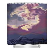 Purple Mountain Majesty Shower Curtain