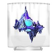 Purple Mountain Shapes - 46 Shower Curtain