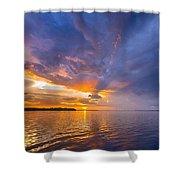 Purple Orange Dream Sunset Shower Curtain