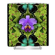 Purple Orchid Shower Curtain