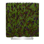 Purple Paragon In Green  Shower Curtain