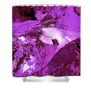 Purple Passion Abstract Shower Curtain