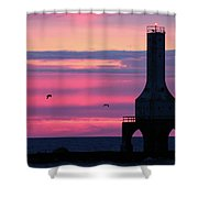 Purple Perfection In Port Shower Curtain