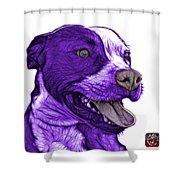 Purple Pit Bull Fractal Pop Art - 7773 - F - Wb Shower Curtain