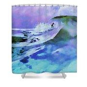 Purple Pit Shower Curtain