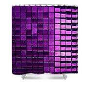 Purple Pixels Shower Curtain