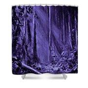 Purple Planet Shower Curtain