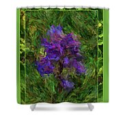 Purple Png Flower Shower Curtain