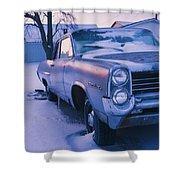 Purple Pontiac Shower Curtain