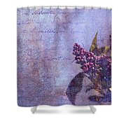 Purple Prose Shower Curtain