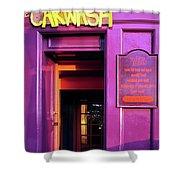 Purple Pub Shower Curtain