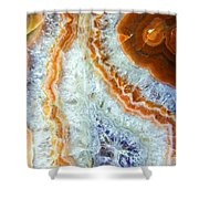 Purple Quartz With Orange Rust Shower Curtain