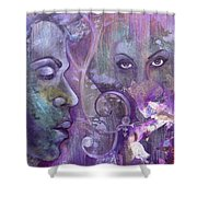 Purple Rain Shower Curtain