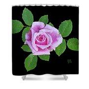 Purple Rosebud2 Cutout Shower Curtain