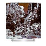 Purple Mount Rushmore Vision Shower Curtain
