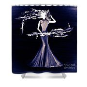 Purple Scent Shower Curtain